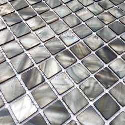 azulejo de mosaico de perlas perlas de baño 1m nacarat gris