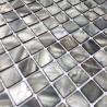 azulejo de mosaico de perlas perlas de baño odyssee-gris
