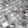 mosaic tile of Pearl tile shower bath Pearl odyssee-gris