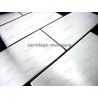 tiles stainless steel mosaic stainless steel splashback stainless cm-brique150