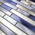 Aluminium mosaic wall backsplash kitchen and bathroom cm-blend-bleu 1sqm