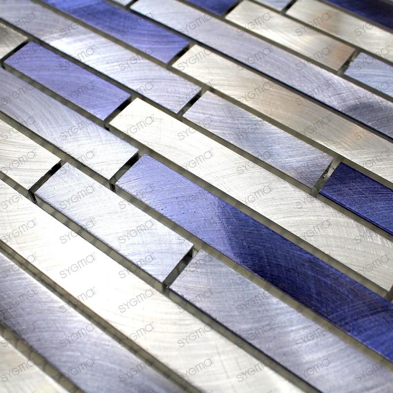 carrelage en aluminium pour mur cuisine et salle de bain blend bleu