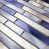 Mosaique en aluminium 1m2  pour mur cuisine et salle de bain blend-bleu