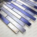 mosaico aluminio frente cocina ducha baño cm-blend-bleu