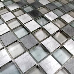 Carrelage mosaique aluminium douche salle de bain HEHO 1m2