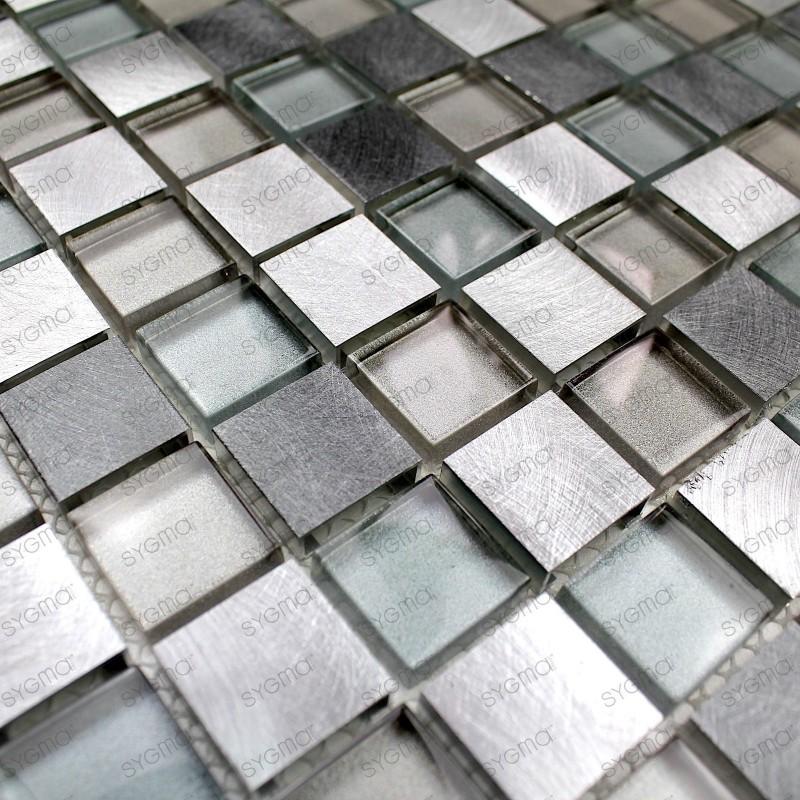 Aluminium and glass mosaic kitchen and bathroom HEHO 1sqm