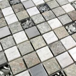 Mosaique salle de bain mur et sol douche SWIRI 1m2