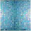 pate de verre mosaique RAINBOW AZUR