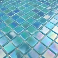 mosaique pate de verre douche et salle de bain RAINBOW AZUR 1m2