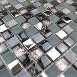 Mosaic bathroom wall and...