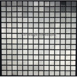 carrelage inox mosaique inox 1 plaque REGULAR 20