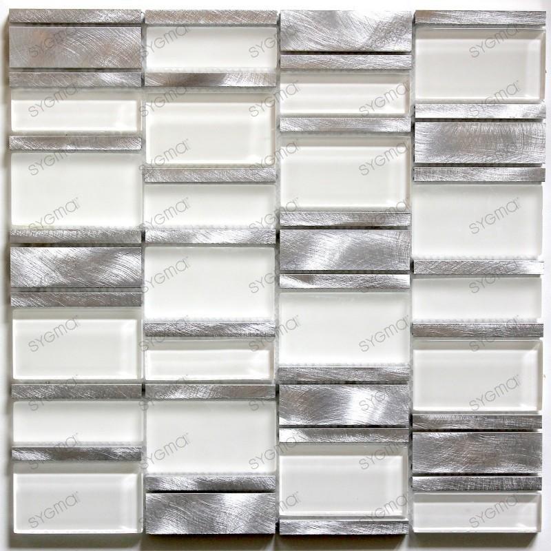 mosaïque de salle de bain et cuisine Albi Blanc