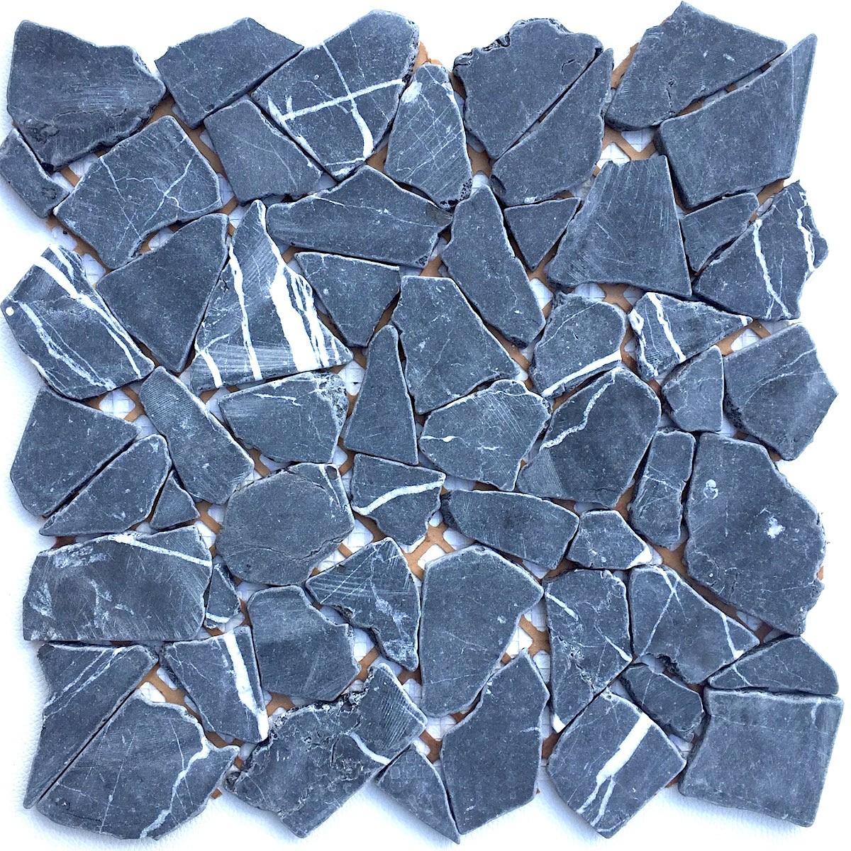 galet en pierre pour salle de bain ou douche sigma noir 1m2