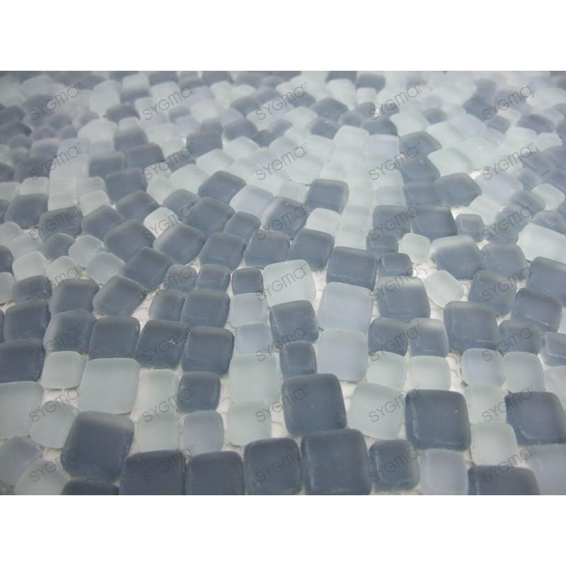 mosaique de verre couleur gris mini mosaique 1m2. Black Bedroom Furniture Sets. Home Design Ideas