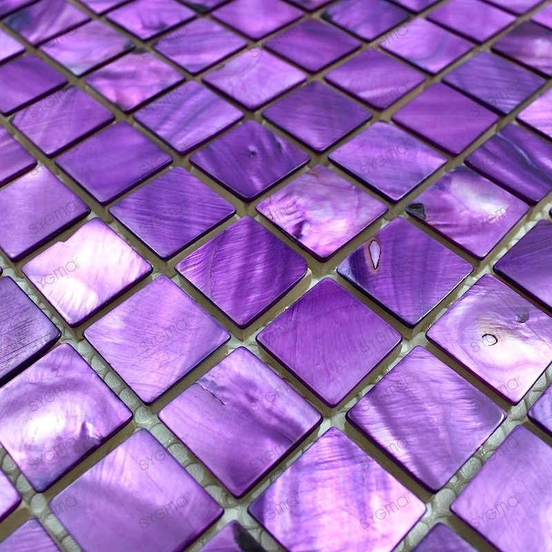 mosaique de nacre pour salle de bain ou douche nacre violet 1m2. Black Bedroom Furniture Sets. Home Design Ideas