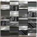 mosaico aluminio frente cocina ducha baño 1m Albi Gris
