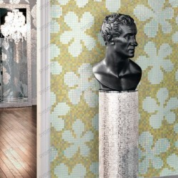 Mosaico vidrio pasta 3,77 m2 jardines arte ononis ámbar