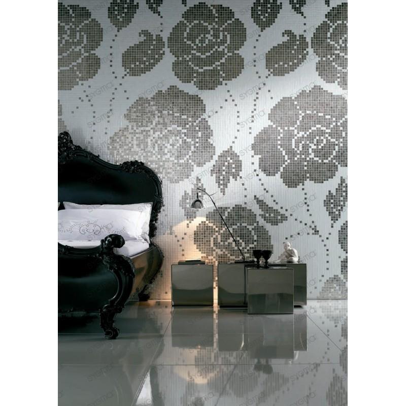 mosaïque pate de verre motif ROSE