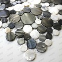 REDONDO grey mother-of-Pearl tile mosaic 1sqm