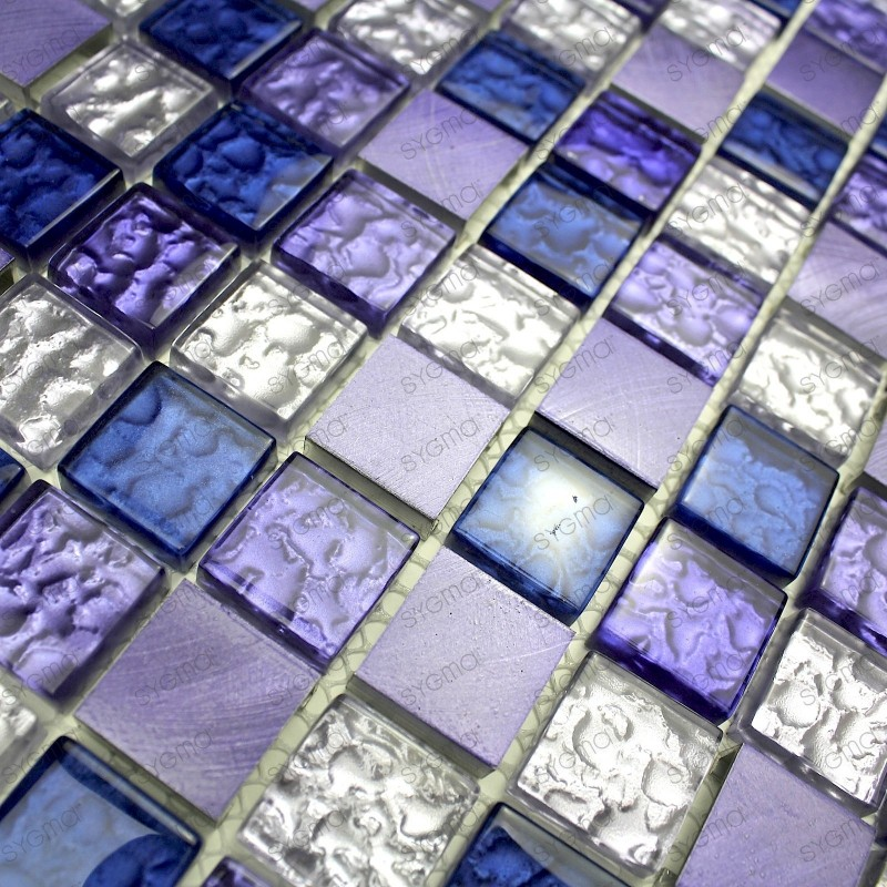 Mosaique pour cr dence cuisine fond de hotte nomade violet 1m2 - Credence pour douche ...
