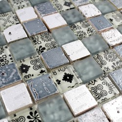 Mosaic bathroom shower wall...