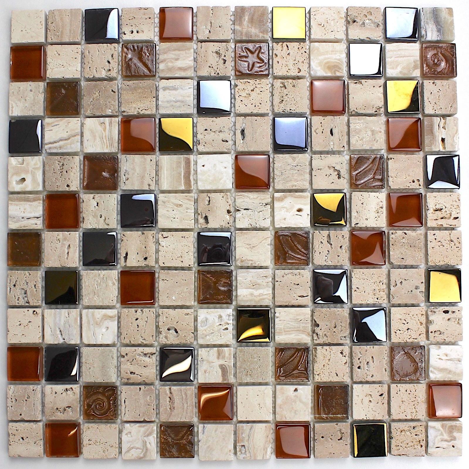 Mosaique salle de bain et douche couleur beige Malika en ...