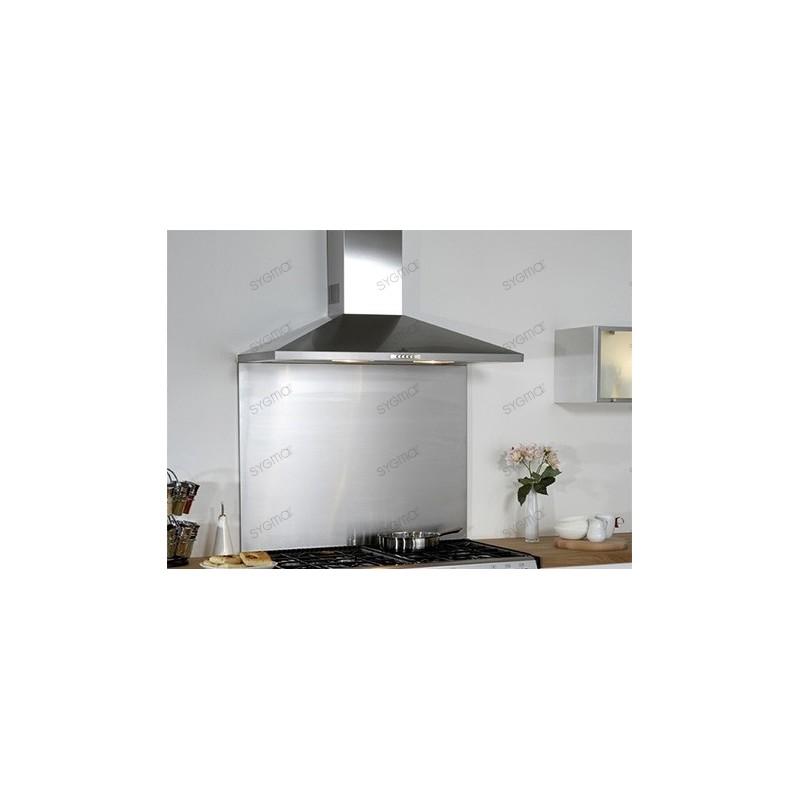 cr dence cuisine inox fond de hotte cuisine inox largeur 90cm. Black Bedroom Furniture Sets. Home Design Ideas