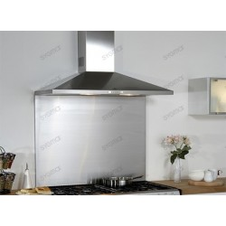 backsplash stainless steel kitchen bottom of Hood width 60