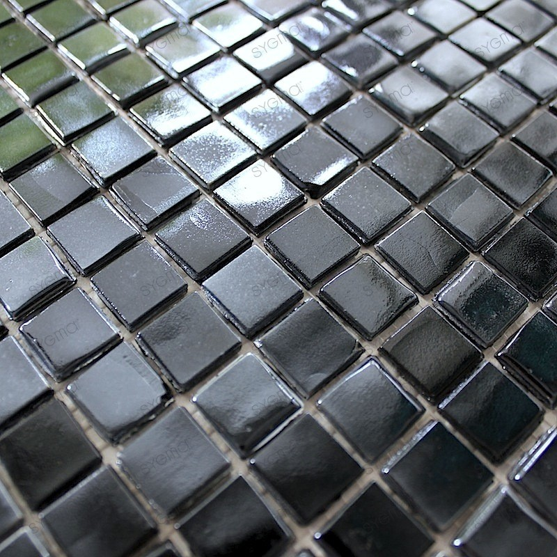 mosaique pate de verre RAINBOW CARBONE
