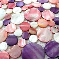 REDONDO purple mother-of-Pearl tile mosaic 1sqm