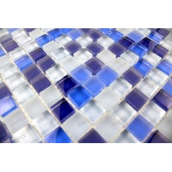 Carrelage mosaique verre 1 plaque IRIS