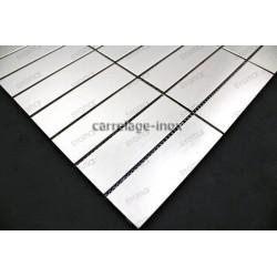carrelage inox mosaique 1 plaque GOLDMIX20