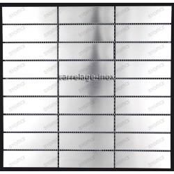 carrelage inox mosaique 1 plaque RECTANGULAR98