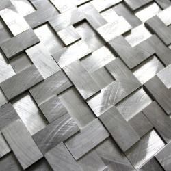mosaïque aluminium credence cuisine fond de hotte Konik 1m2