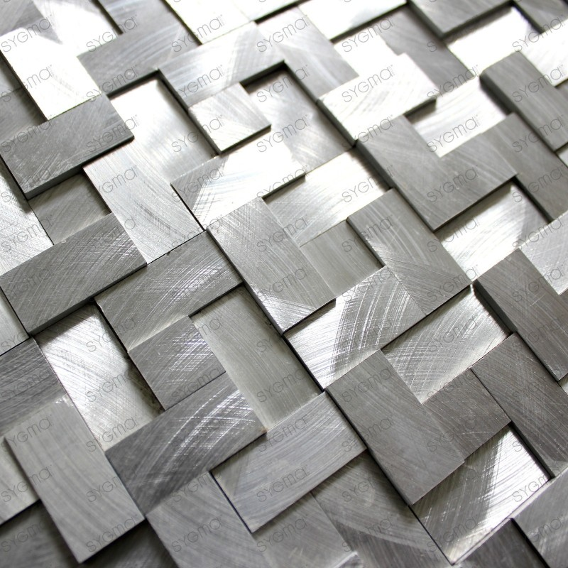 mosaico aluminio frente cocina ducha baño 1m Sekret