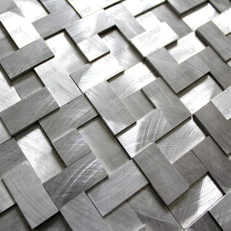 mosaïque aluminium credence cuisine fond de hotte 1m Sekret