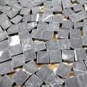 Mosaic tile stone 1 plate LULLI black