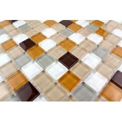 Mosaic tiles glass plate mosaic shower HONEY 1sqm