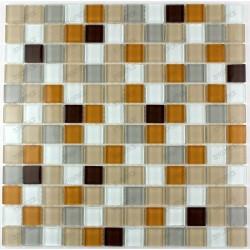 Mosaique carrelage verre 1 plaque HONEY