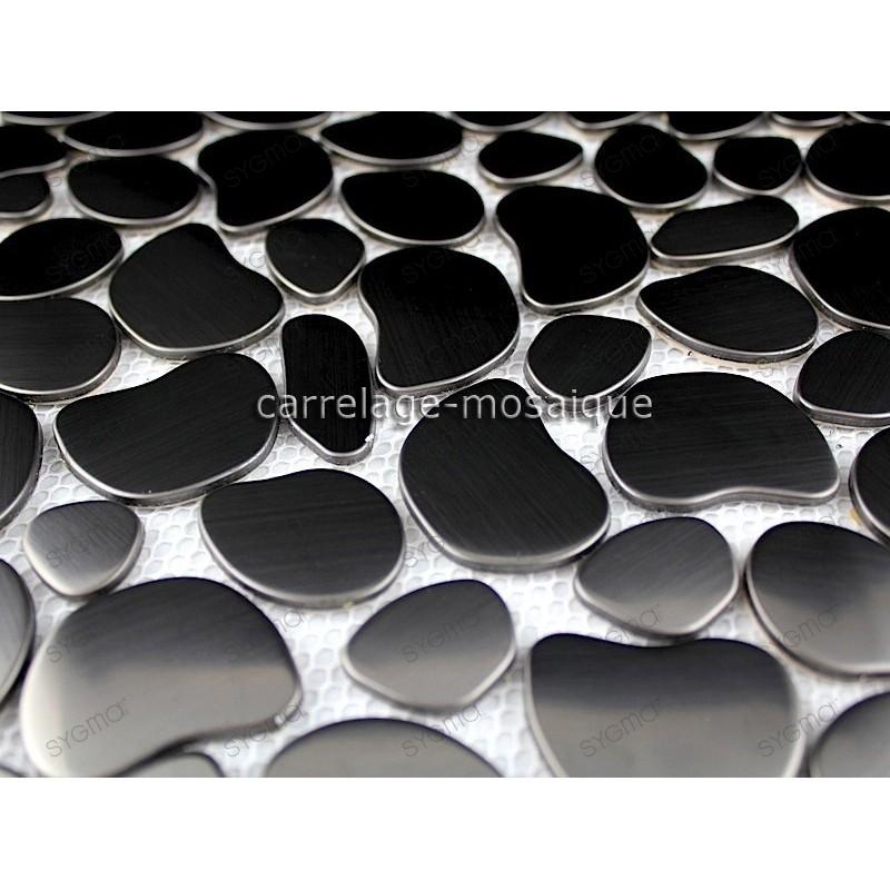 carrelage inox mosaique acier inoxydable GALETNOIR