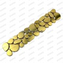 borer stainless stell mosaic 1pc Galet gold