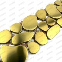 Listelo acero galet inox 1pc Galet gold