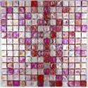Mosaique carrelage verre 1 plaque ZENITH ROSE