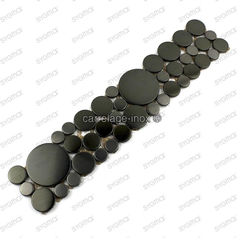 Listelo acero galet inox 1pc Loop noir