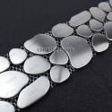 borer stainless stell mosaic 1pc Galet inox