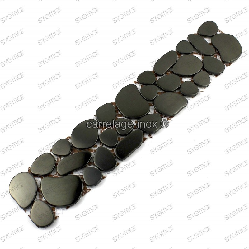 borer stainless stell mosaic 1pc Galet noir