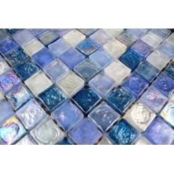 Mosaique verre pour douche italienne hammam Zenith Bleu 1m2