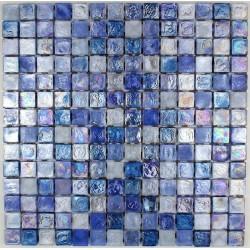 Mosaique carrelage verre 1 plaque ZENITH BLEU