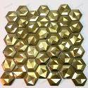 mosaico ducha acero cocina baño Kali Gold