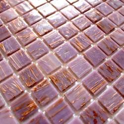 Mosaique pate de verre douche salle de bain vitro rose 1m2